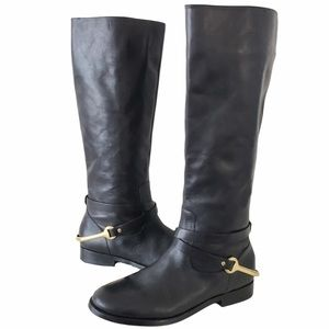 Ralph Lauren Jenny riding boots black size 7.5